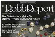 <em>The Robb Report</em>&acute;s &quot;We Address Success&quot; ad campaign features Alfred DiMora with a Clenet in July 1985.